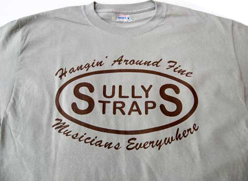 Gray T-Shirt: Sully's Straps